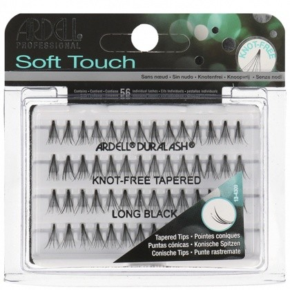 Ardell Professional Soft Touch Knot-Free Tapered Long Black Rzęsy Kępki Czarne Długie