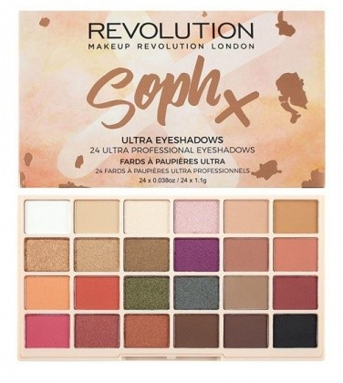 Makeup Revolution Ultra Eyeshadows Paleta 24 Cieni Do Powiek Soph X