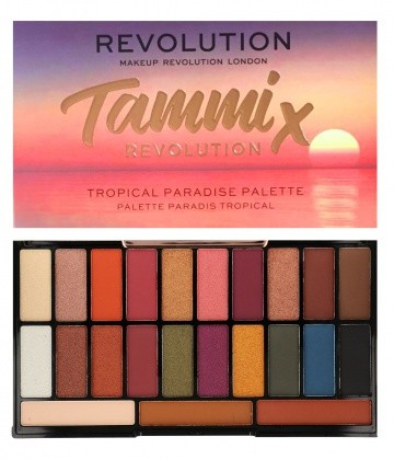 Makeup Revolution X Tammi Tropical Paradise Eyeshadow Palette Paleta 23 Cieni Do Powiek