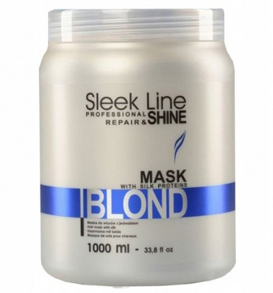 Stapiz Sleek Line Mask Repair & Shine Blond Maska Do Włosów Blond Z Jedwabiem 1000ml
