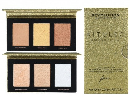 Makeup Revolution Kitulec #GlowKitulca Zestaw 2 Paletek Do Konturowania Base/Topper
